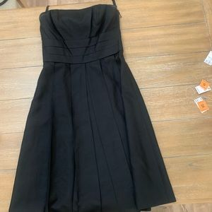 Ann Taylor strapless black dress